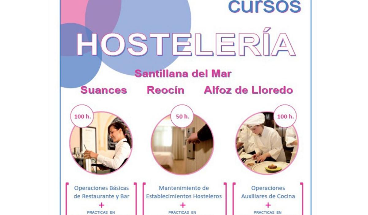 Cuatro Ayuntamientos organizan cursos de hostelería para desempleados