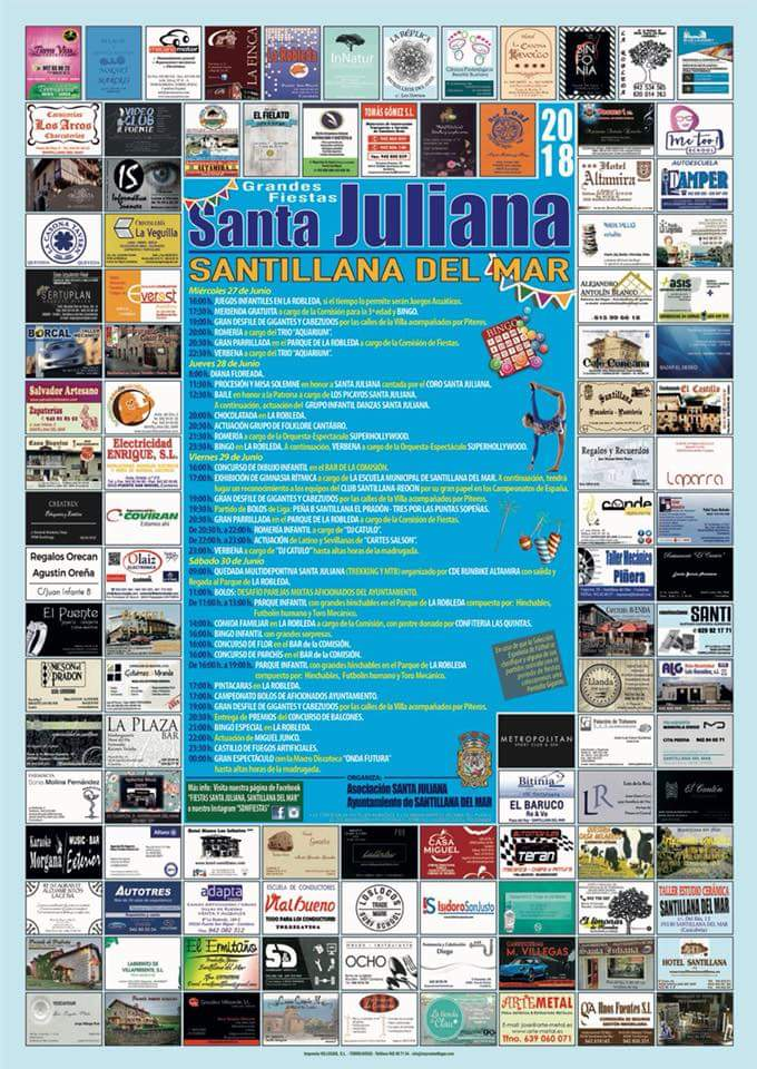 Cartel Fiestas Santa Juliana 2018