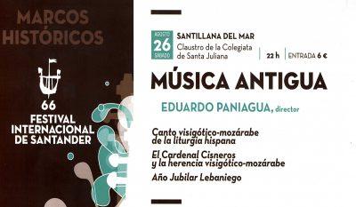 66 Festival Internacional de Santander Marcos Históricos Música Antigua