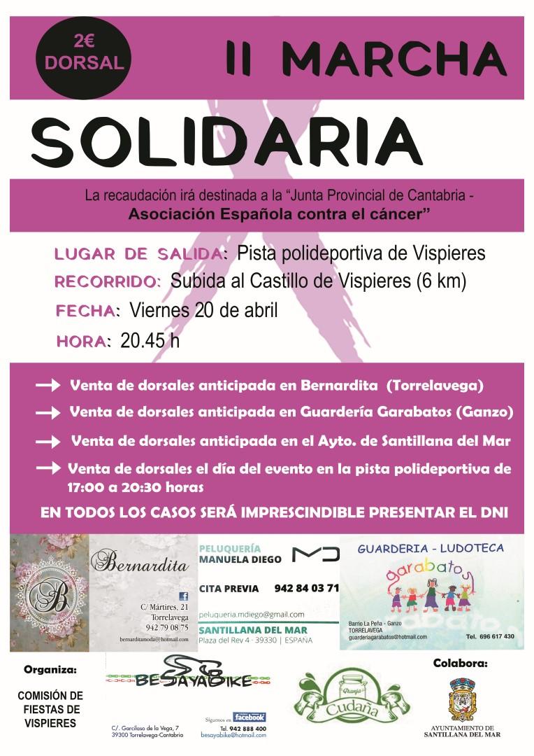 cartel II Marcha Solidaria Vispieres